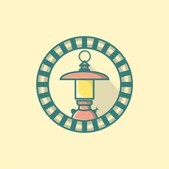 Logotipo das luzes da lâmpada