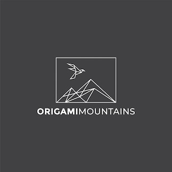 Logotipo das montanhas origami