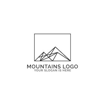Logotipo das montanhas
