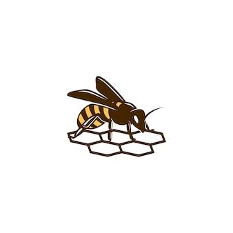 Logotipo de abelha de mel