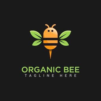 Logotipo de abelha orgânica