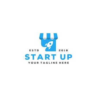 Logotipo de abertura de loja criativa