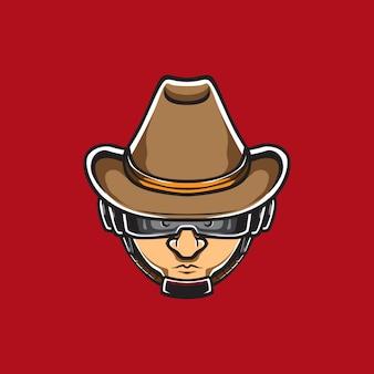 Logotipo de aço de venda de homem