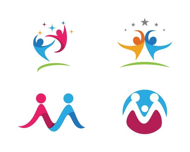 Logotipo de adopção e cuidados comunitários