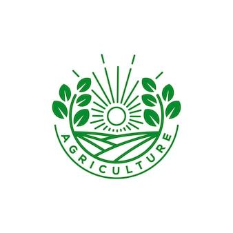 Logotipo de agricultura e fazenda orgânica