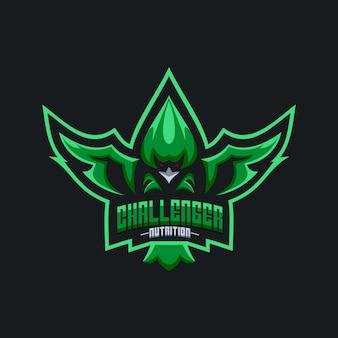 Logotipo de águia de nutrição de challenger