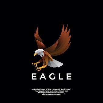 Logotipo de águia gradiente
