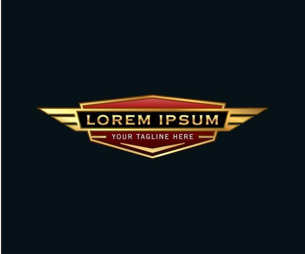 Logotipo de alas de badge de luxo