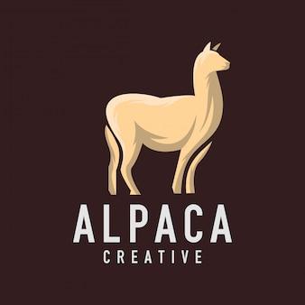 Logotipo de alpaca no escuro