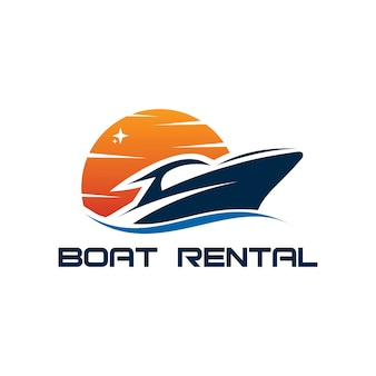 Logotipo de aluguel de barco