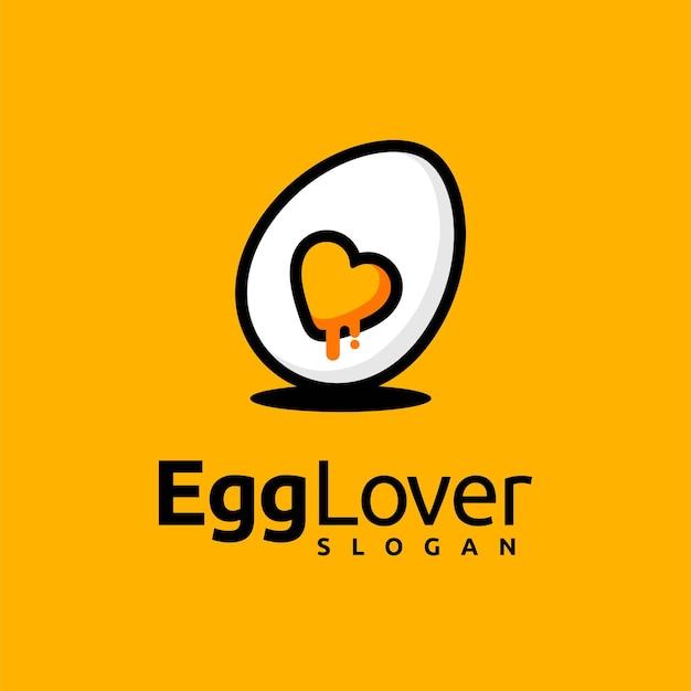 Logotipo de amante de ovo com conceito moderno