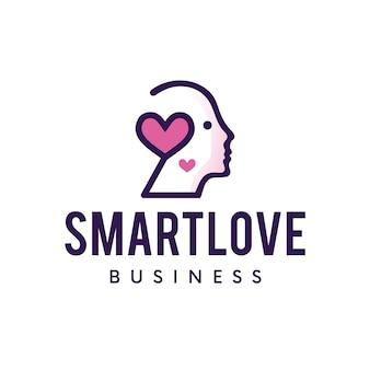 Logotipo de amor inteligente