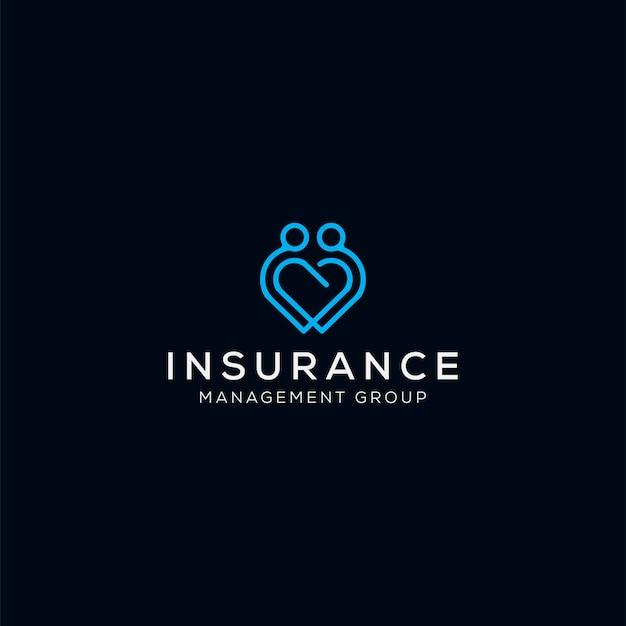 Logotipo de amor profissional para medicina