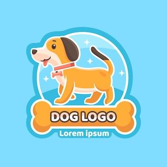 Logotipo de animal de cachorro desenhado à mão