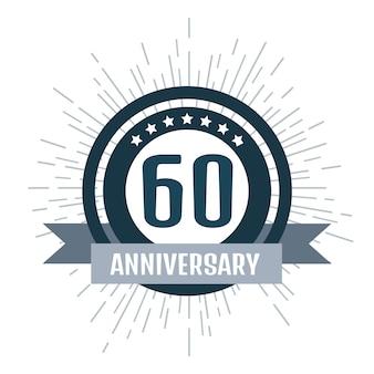 Logotipo de aniversário 60.