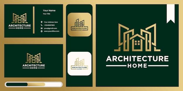 Logotipo de arquitetura residencial moderna industrial