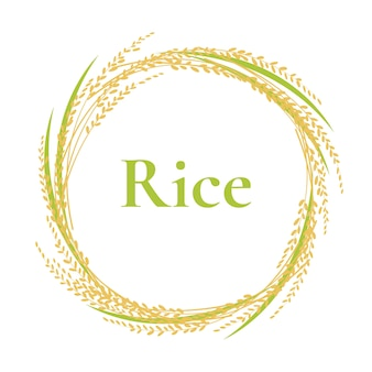 Logotipo de arroz de quadro de círculo