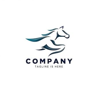 Logotipo de arte corrida cavalo