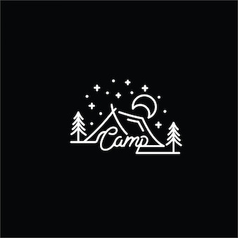 Logotipo de arte de linha cam