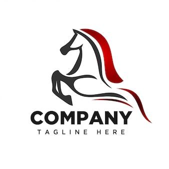 Logotipo de arte de salto de cavalo