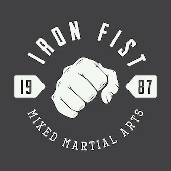 Logotipo de artes marciais, crachá