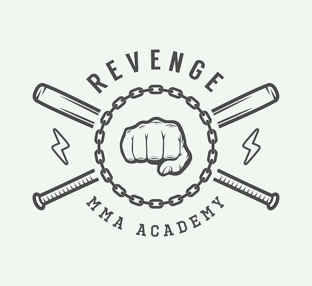 Logotipo de artes marciais