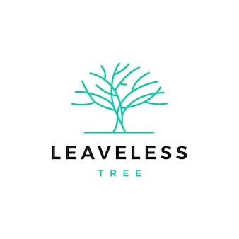 Logotipo de árvore sem folhas vector icon ilustração