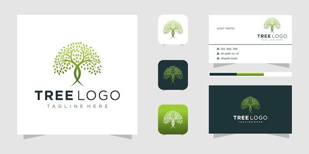 Logotipo de árvore vibrante abstrato