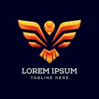 Logotipo de asa de águia vetor premium