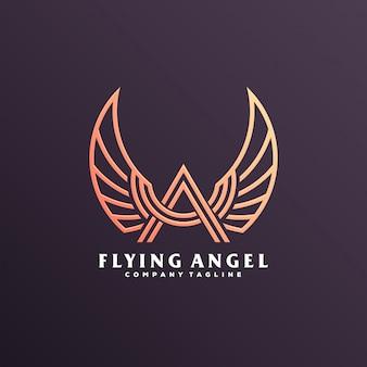 Logotipo de asa de anjo