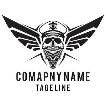 Logotipo de asas de caveira