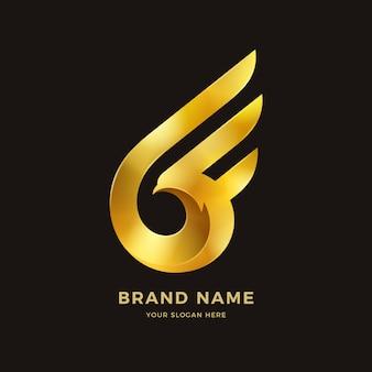 Logotipo de asas de pássaro