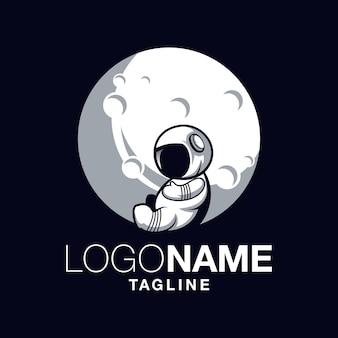 Logotipo de astronauta bebê