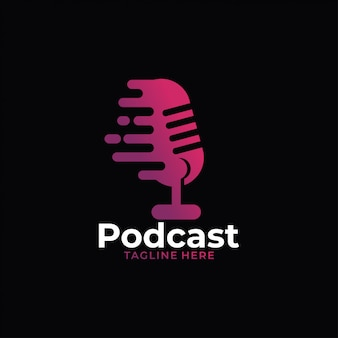 Logotipo de áudio de podcast