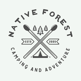 Logotipo de aventura, crachá