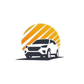 Logotipo de aventura de carro