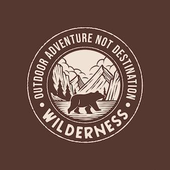 Logotipo de aventura do deserto