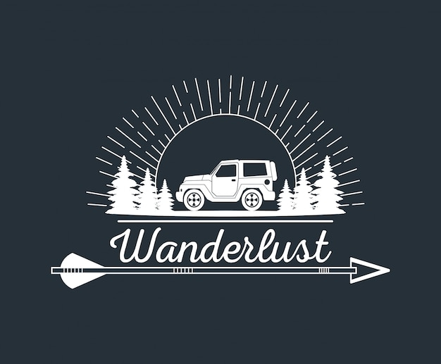 Logotipo de aventura wanderlust
