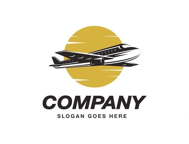 Logotipo de avião voando