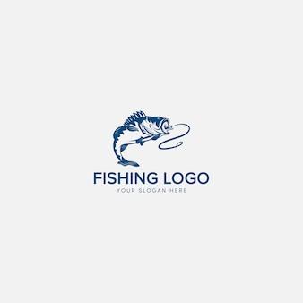 Logotipo de baixo de pesca
