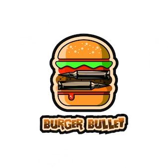 Logotipo de bala de hambúrguer