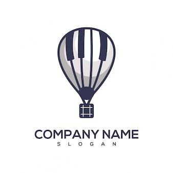 Logotipo de balão de piano