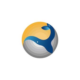 Logotipo de baleia de círculo