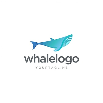 Logotipo de baleia jubarte moderna