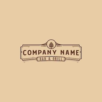 Logotipo de banner de bar e grill