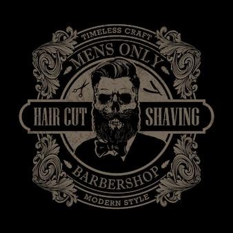 Logotipo de barbearia desenhada de mão