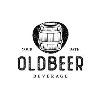 Logotipo de barril de cerveja antigo