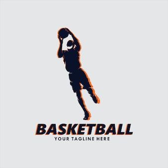 Logotipo de basquete enterrado