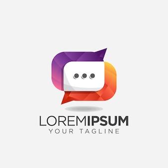 Logotipo de bate-papo de comunicação incrível simples