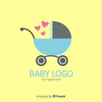 Logotipo de bebê liso
